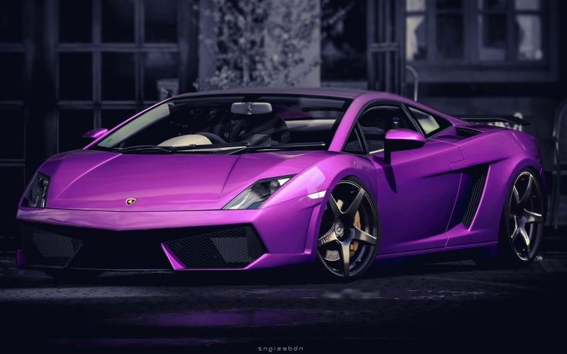 Purple Lamborghini Gallardo