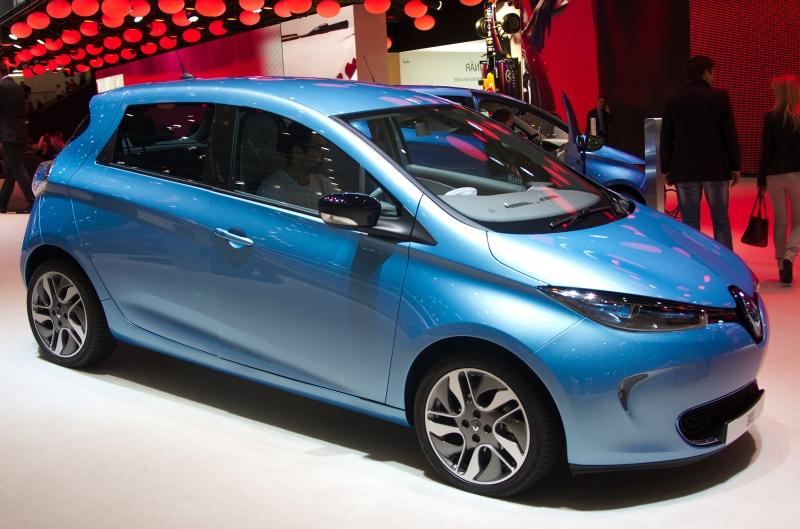 Renault Zoe, a pure electric car with a 210 km to 230 km range.